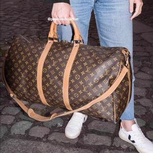 ♥️KEEPALL BANDOULIERE 60♥️ Authentic LV Travel Bag